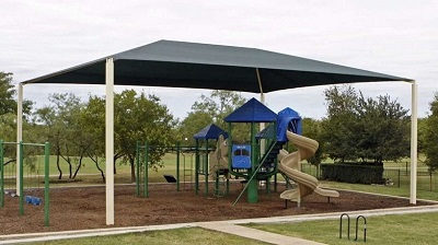 playground and shade structure installation