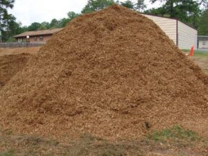 this is a pile of playground mulch