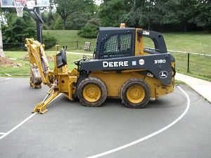 a loader for playground construction