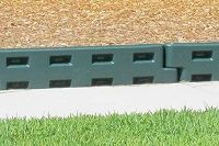 green plastic border or playground border