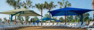swimming pool shade installation